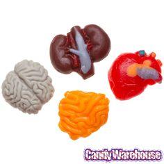 Gummy Internal Organs Candy: 38-Piece Bag
