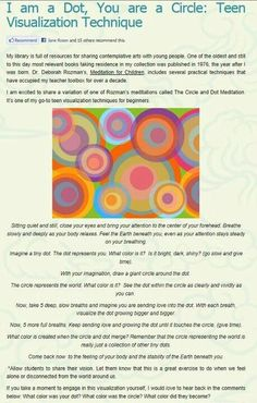 dot exercise mindfulness Best Picture For Art therapy activities grades For Your Taste You are l Mindfulness For Kids, Mindfulness Activities, Mindfulness Meditation, Guided Meditation, Grounding Meditation, Meditation Kids, Activities For Teens, Counseling Activities, Art Therapy Activities
