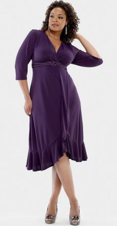 Plus Size... add a pop of color in jewelry or a shrug.
