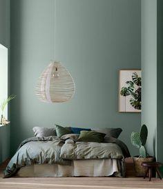 bleu celadon tirant vers le vert, linge de lit gris, vert et bleu, suspension ex... - #bleu #celadon #de #gris #le #linge #lit #Suspension #tirant #vers #vert