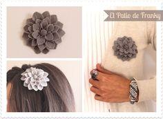 Colección Elegant and Sweet: broches - diademas  http://elpatiodefranky.blogspot.com.es/2012/10/coleccion-elegant-sweet-felt-brooch-hairband-fieltro-broche-diadema.html