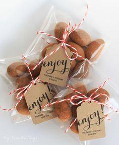 2 dollar shipping - enjoy - custom wedding tags for food favors Food Wedding Favors, Wedding Gifts For Guests, Rustic Wedding Favors, Wedding Favors Cheap, Wedding Favor Tags, Diy Wedding, Wedding Invitations, Dessert Packaging, Bakery Packaging