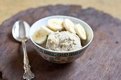 banana peanut butter honey ice cream recipe - 3 ingredients / no ice cream maker required