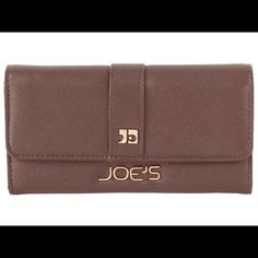 """Selling this """"Joe's Jeans brown faux leather salute snap wallet"""" in my Poshmark closet! My username is: crazyposh. #shopmycloset #poshmark #fashion #shopping #style #forsale #Joe's Jeans #Clutches & Wallets"""