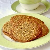 """Sesame Wafer Cookies - crispy buttery sesame wafers based upon a version by Paula Deen as found in her """"Southern Cooking Bible"""" which I recently purchased at her restaurant in beautiful Savannah Georgia. A perfect coffee or tea cookie; I absolutely loved them."""