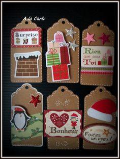 Etiquettes cadeau /tag déco , pour Noël : Emballages cadeaux par sylviealacarte