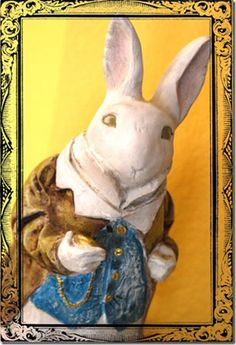 """Mr. Bunny -- looks lie the white rabbit from Alice in Wonderland...""""I'm late, I'm late..."""""""