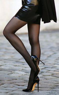 high heels with strap Sexy High Heels, Sexy Legs And Heels, Hot Heels, Nylons And Pantyhose, Nylons Heels, Stiletto Heels, Patent Heels, Stockings Heels, Black Stockings