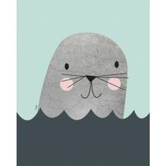 Isa Form photo poster little seal mint 30 x 40 cm