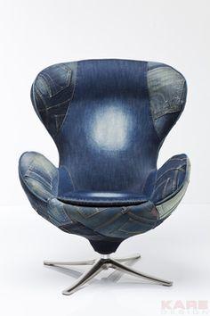 Draaistoel Lounge Jeans is een stoer retro model stoel uit de Kare Design collectie en is nu verkrijgbaar bij Furnies.nl voor €999,-!