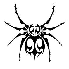 Tribal Spider 10 stunning tribal spider tattoos only tribal God Tattoos, Future Tattoos, Tatoos, Spider Web Tattoo, Jagua Tattoo, Tribal Tattoos For Men, Beaded Spiders, Desenho Tattoo, Tattoo Stencils