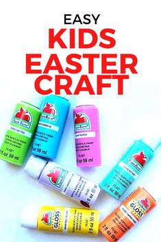 Looking for a fun and cheap Easter craft idea for your kids or classroom? This DIY craft is so easy it's perfect for preschoolers and toddlers, simply let each kid pick out their favorite color and get to it. Diy File Cabinet, Hand Painted Wallpaper, Toilet Paper Roll Crafts, Easter Crafts For Kids, Baskets On Wall, Animals For Kids, Favorite Color, Toddlers, Classroom