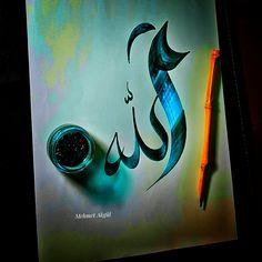 Arabic Calligraphy Art, Arabic Art, Eid Islam, Asma Allah, Sufi, Besties, Artworks, Creativity, Gems