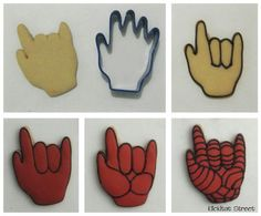 I love you deaf sign with the hand cookie cutter - Visit to grab an amazing super hero shirt now on sale! Spiderman Hand, Spiderman Cookies, Superhero Cookies, Superhero Spiderman, Superhero Party, Royal Icing Cookies Recipe, Sugar Cookie Royal Icing, Cookie Frosting, Cupcakes