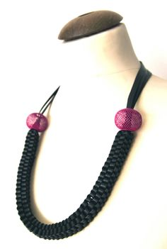 Scooby Recycled Bicycle Inner Tube Necklace by MorganaCrea, €35.00 www.morganacrea.it