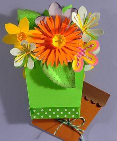 ♥ Scrapcrazyyyy! ♥: 3D Flower Pot Gift Card Holder (Rework)