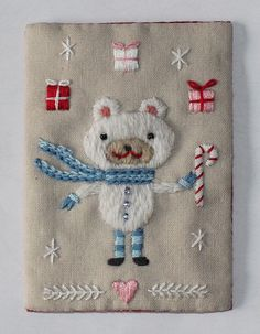 Christmas Bear ATC by flossbox, via Flickr