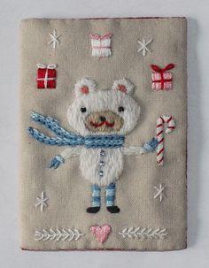 Christmas Bear ATC by flossbox, via Flickr