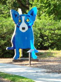 must take agnes to see george rodrigue's Blue Dog in city park