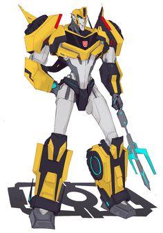 RiD2015 Bumblebee drawn in MTMTE style by milgarosen.