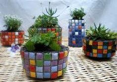 macetas con mosaicos - Buscar con Google