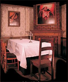 1000 images about haunted house ideas on pinterest for Haunted dining room ideas