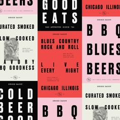 Smoke Daddy is world-class BBQ in the heart of Wicker Park and now, the heart of Wrigleyville. Graphic Design Posters, Graphic Design Typography, Graphic Design Inspiration, Branding Design, Logo Design, Brand Inspiration, Japanese Typography, Lettering, Typography Letters