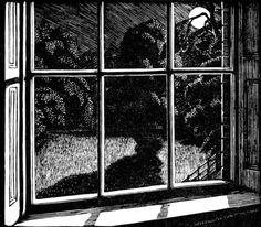 Night Nursery Window, Gwen Raverat;  wood engraving
