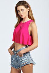 Sofia Basic Swing Crop Vest