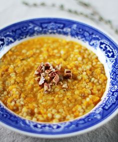 Recipe: Creamy Butternut Squash Orzotto (Barley Risotto) with Toasted Pecans