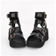 747092cab03 Lolita Shoes Classic Lolita Dress Punk Lolita Dress Lolita Handmade  Platform Solid Color Lolita 7 cm CM Black For Men s PU Leather PU Leather    Polyurethane ...