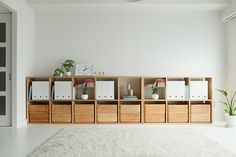 More substantial than the ubiquitous (and still great) Kallax / Expedit Japanese Home Decor, Japanese Interior, Japanese Style, Muji Storage, Muji Home, Muji Style, Baby Room Storage, My New Room, Minimalist Home