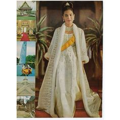 """In a letter to Henry Clarke regarding this shoot, Diana Vreeland wrote, """"About the Queen of Thailand: I do think she is the most beautiful thing in the world-like a little flower, with the most exquisite clothes"""" VOGUE February 1965 Long Live The Queen"""