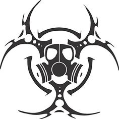 Biohazard Gas Mask Decal (Black) #Biohazard #Mask #Decal #(Black)