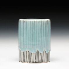 Sebastian Moh blue glaze mug