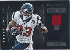 Arian Foster Houston Texans 2012 Panini Black NFL Equipment Prime Card #19 (2 of 49)