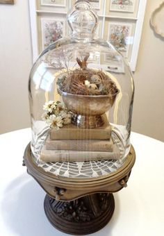 69 inspiring easter decorations ideas for the home 24 Glass Domes, Glass Jars, Casa Magnolia, Cloche Decor, The Bell Jar, Bell Jars, Apothecary Jars, Spring Home, French Country Decorating