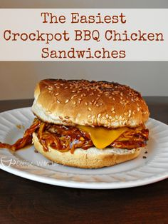 Crockpot BBQ Chicken Sandwiches- So easy you'll be amazed, but still amazingly delicious!