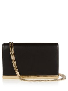 DVF's aptly named black leather Soirée clutch is perfect for after-dark events.