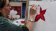 How to paint a Poinsettia (New Lesson!) - YouTube