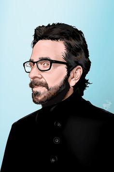 vector portrait of Marc Maron