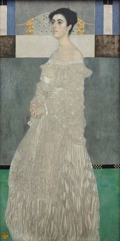 """Gustav Klimt (Vienna, 14 July 1862 - Vienna, 6 February - Vienna, 31 October - portrait """"Margarethe Stonborough-Wittgenstein - Oil on canvas x cm - Neue Pinakothek (Temporarily At Alte Pinakothek) Munich Gustav Klimt, Art Klimt, Famous Art Paintings, Popular Paintings, Romantic Paintings, Oil Paintings, Museum Collection, Image Collection, Thing 1"""