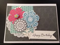 Stampin Up Mixed Bunch & Quintessential Flower