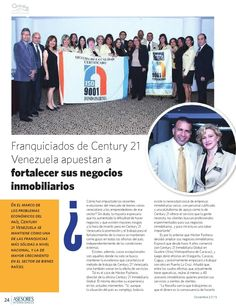 Franquiciados de #Century21 Venezuela apuestan a fortalecer sus negocios #inmobiliarios @c21guayanaplaza #ClippedOnIssuu from Revista AICA 2 @guayanaplaza
