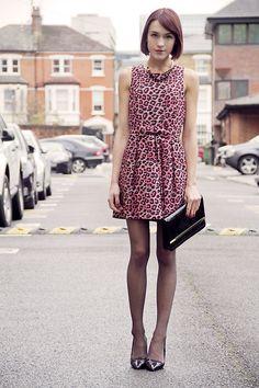 Forever 21 Leopard Print Dress, Forever 21 Necklace, Forever 21 Clutch