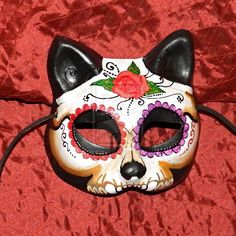 Day of the Dead Cat Mask by Masquefaire on deviantART