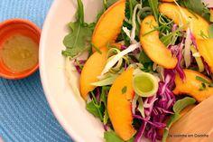 De Cozinha em Cozinha passando pela Minha: Salada de pêssego