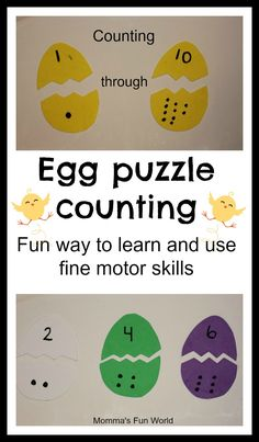 Momma's Fun World: Easter egg number learning puzzle