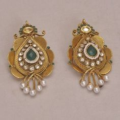 Jhumki meenakari Polki Earrings