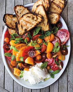 Tomato Crostini: Use the two ingredients as building blocks for simple summer dishes, including bruschetta, panzanella, and gazpacho. Click through our recipes and start making the most of tomato season!